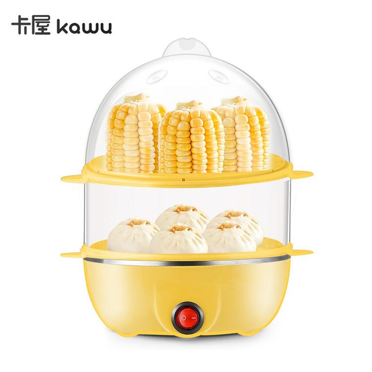 卡屋煮蛋器 双层蒸单机家用早餐机 煮早餐神器自动断电 PA-615