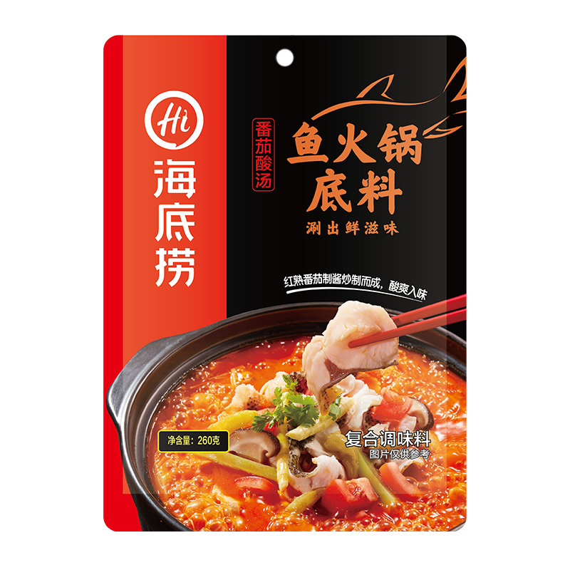 海底捞 番茄酸汤鱼火锅底料260g