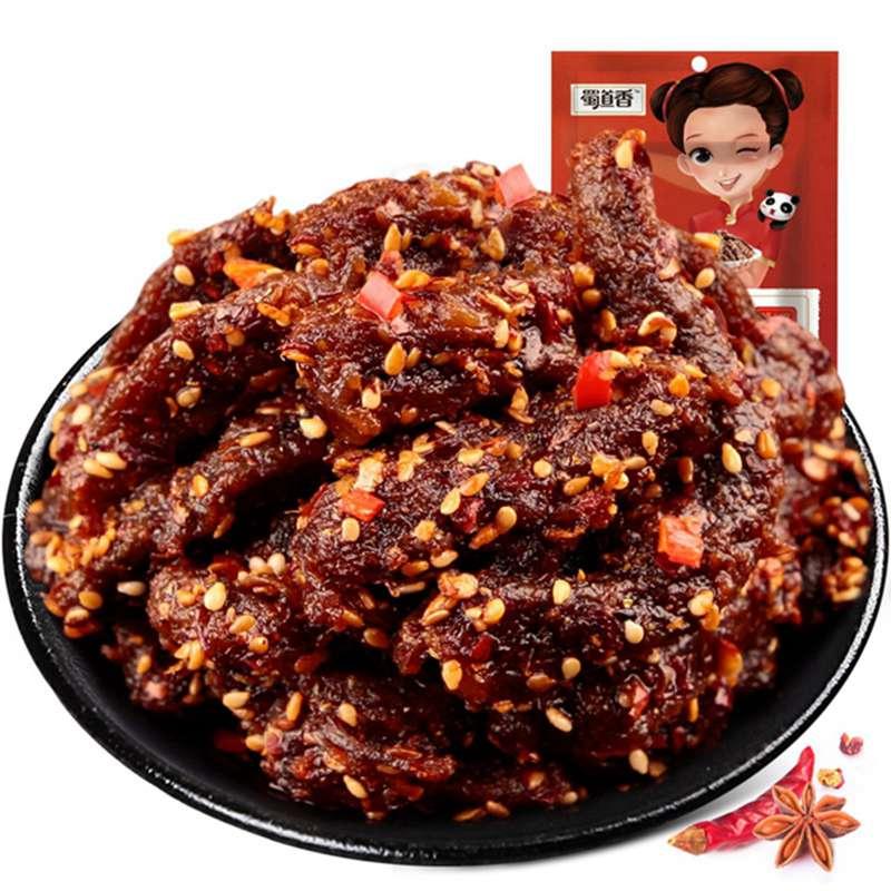 蜀道香 天椒麻辣牛肉干100g爽翻的麻辣牛肉,胃口与幸福的燃点!辣味 川味 零食