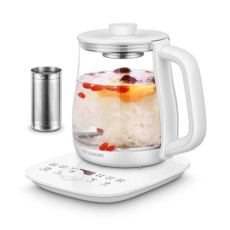 韩国现代(HYUNDAI) 养生壶 煎药壶加厚玻璃 煮茶器 家用花茶燕窝煲茶 QC-YS1533