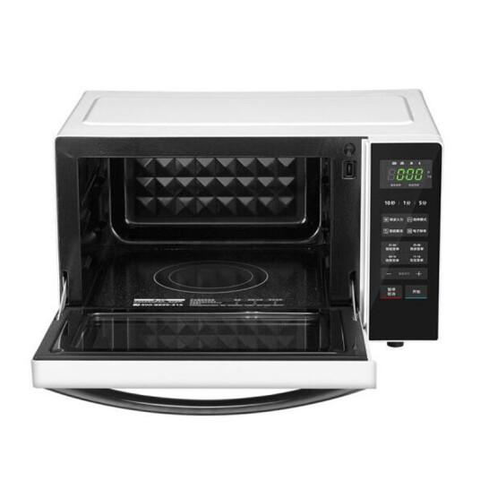 美的 家用微波炉 23升一级能效 智能烹饪 烧烤 四档火力M3-237E 平板加热