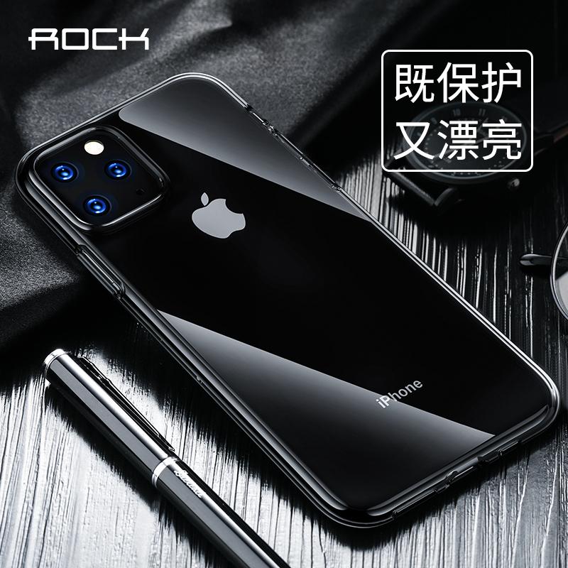 洛克苹果手机iphone11pro max手机壳高透防指纹保护套清水套透明硅胶