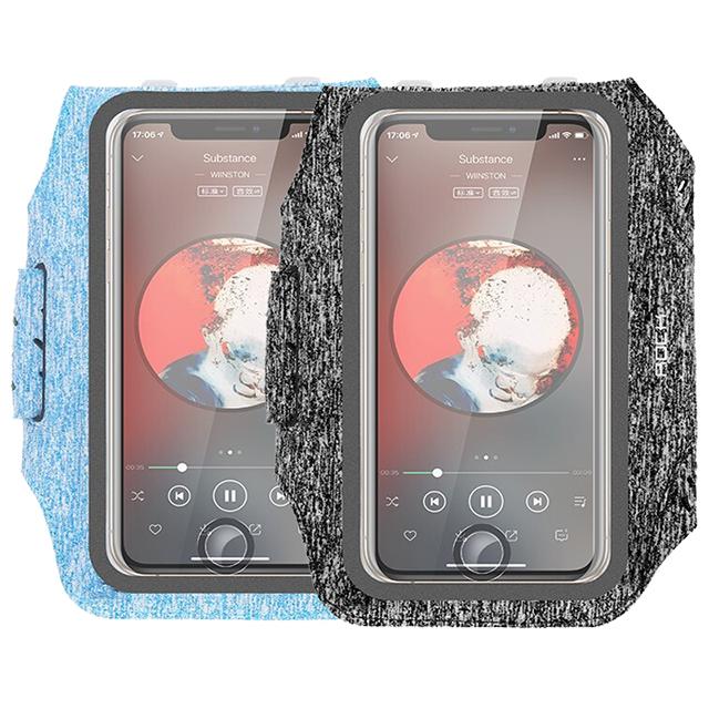 ROCK洛克运动臂带 跑步手机臂包户外运动骑行手机壳保护套 苹果XSMax华为P30pro小米9/6.5英寸以下手机通用