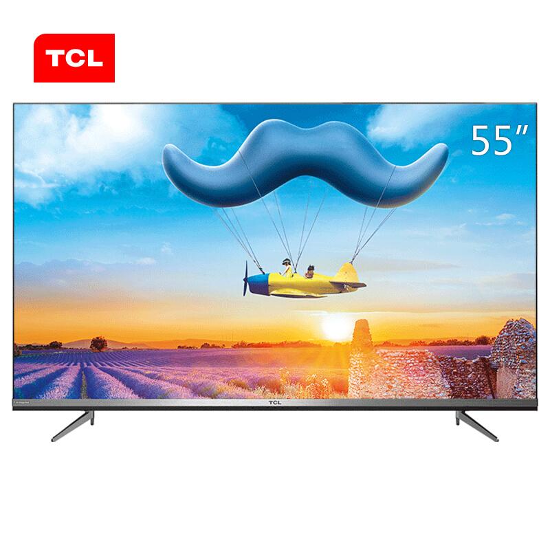 TCL 55D10 55英寸液晶电视机 4k超高清 超薄 全面屏 人工智能 智慧屏 8米免遥控