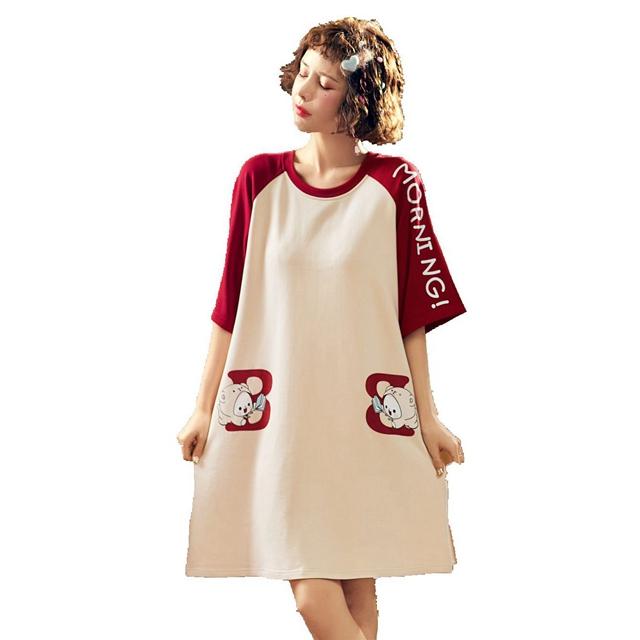北极绒  女款家居服连衣裙6730