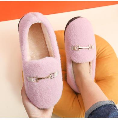 网红同款狐狸头棉拖鞋女包跟冬季韩版学生可爱潮家居鞋室内豆豆鞋