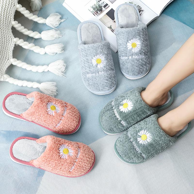 秋冬款棉拖鞋女居家日用毛拖鞋外穿可爱毛绒女士冬天保暖棉拖鞋