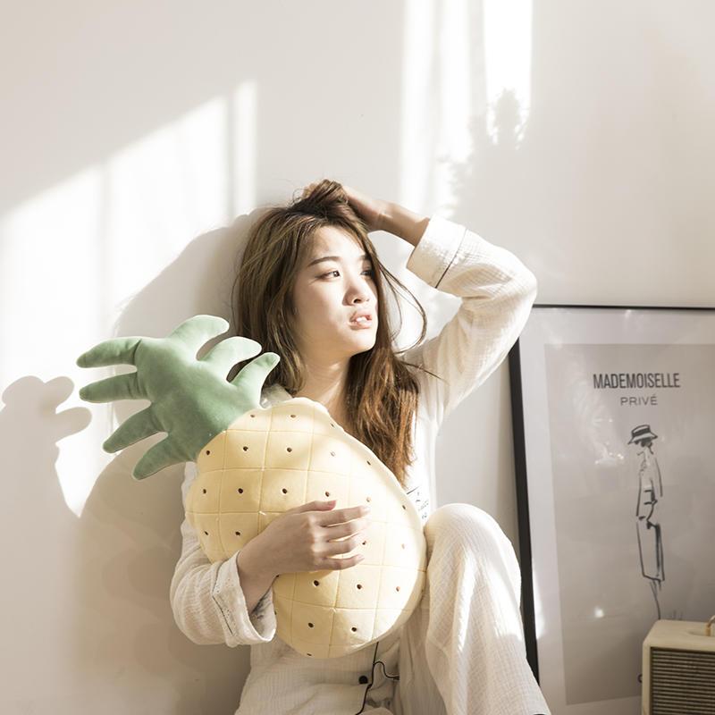 樵纪 水晶绒卡通抱枕被子 韩式可爱风护腰靠垫毯子
