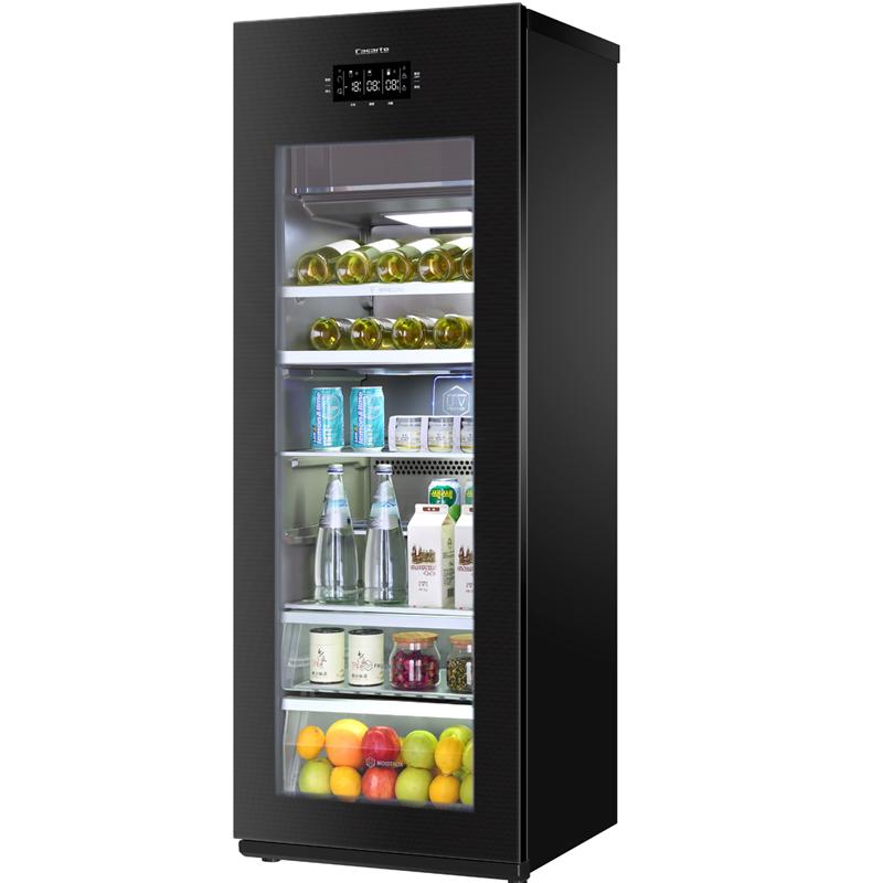 卡萨帝(Casarte) 冰吧双温冷柜酒柜饮料柜茶叶柜保鲜柜220升带制冰功能LC-220JE