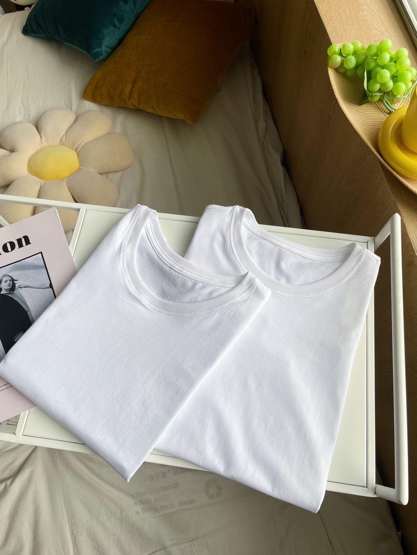 男女同款小白T  纯棉基础款一年四季必备单品
