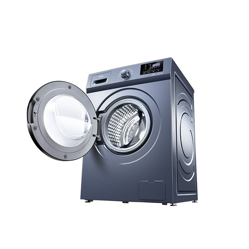 tcl家用10公斤大容量变频节能洗烘一体 高温除菌洗智能烘干全自动滚筒洗衣机TG-V100HB