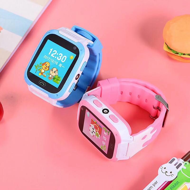 VKE亮丽儿童电话手表学生定位电话手表移动联通版(自带流量任用移动电话卡)