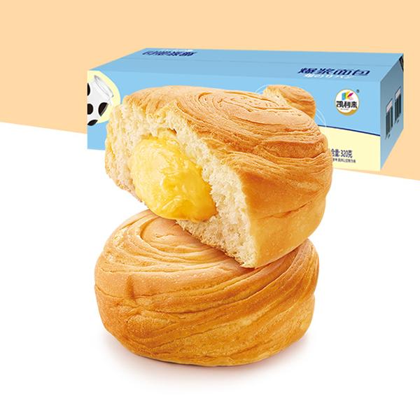 凯利来爆浆面包320g/箱 芒果味奶香味学生蛋糕点懒人速食营养早餐养胃手撕夹心面包