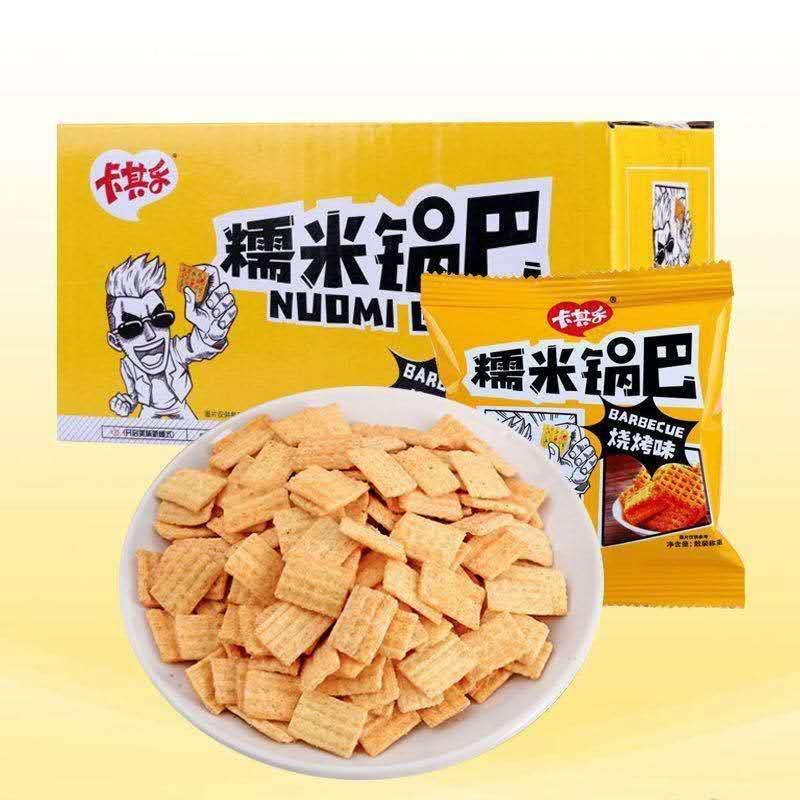 卡其乐烧烤味糯米锅巴400g/盒 口感酥脆一口一个嘎巴脆