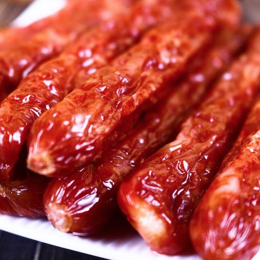 【秒杀团】嗨吃鲜生 经典广味腊肠500克/袋(约15根左右)六分瘦肉四分肥肉 黄金搭配 营养好吃