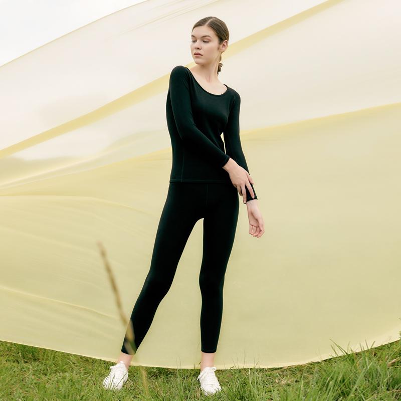 【品质特价】时空探索小空翼循环蓄热保暖女士内衣套装 双面羽丝绒面料柔上加暖 黑科技保暖一冬无忧