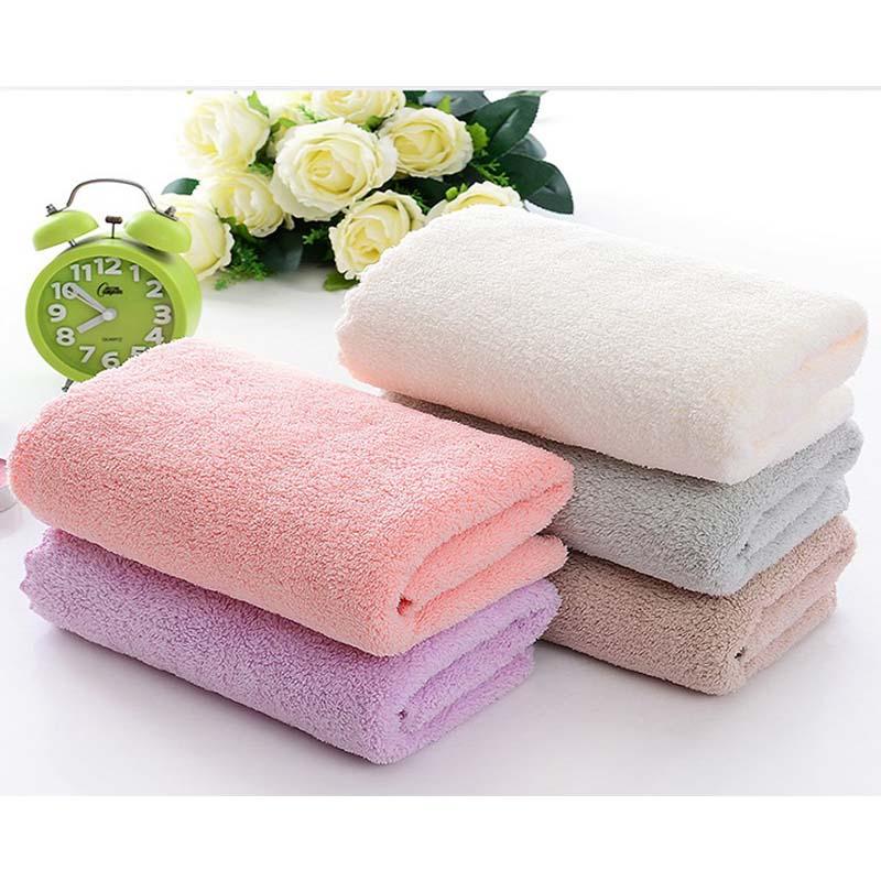珊瑚绒毛巾素色洗脸面巾毛巾3条装 柔软吸水礼品情侣通用毛巾不掉毛不掉色 颜色随机