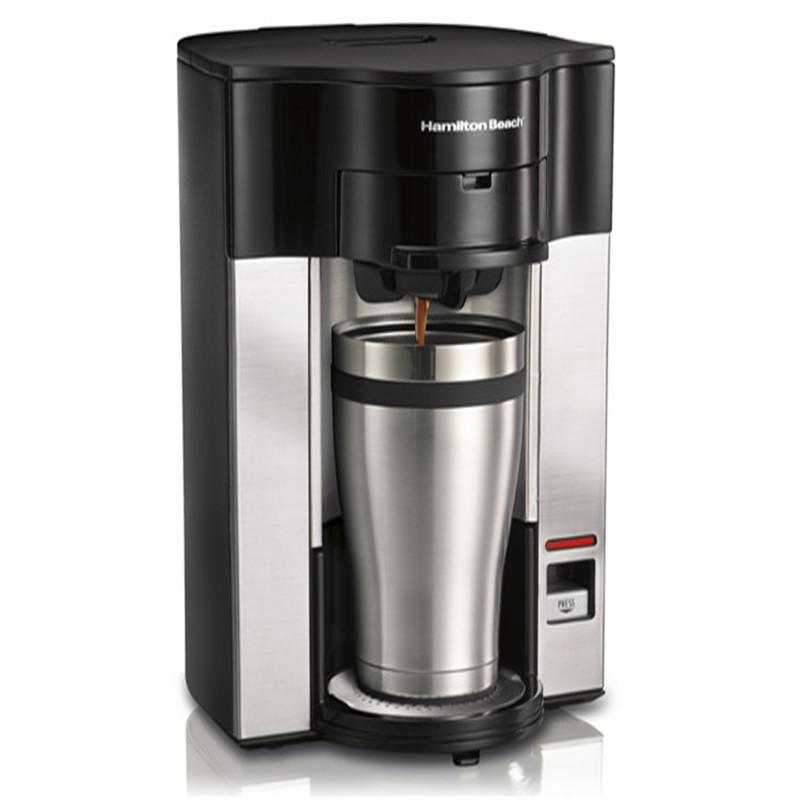 美国汉美驰(Hamilton Beach)咖啡机 美式免滤纸家用单杯滴漏式 49993-CN