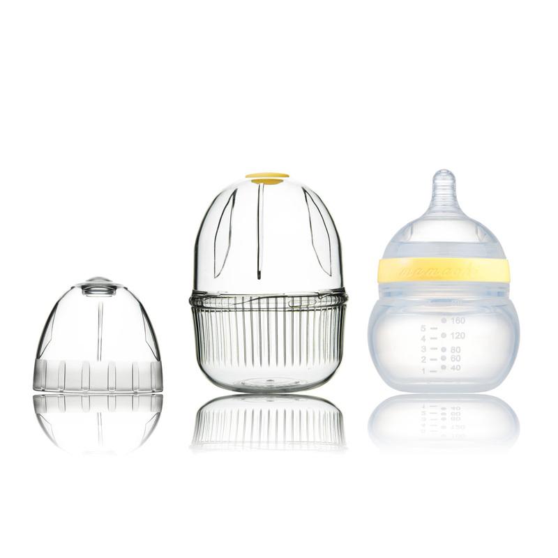 韩国原产Mamachi 宽口径全硅胶奶瓶160ml精装1孔0-3个月