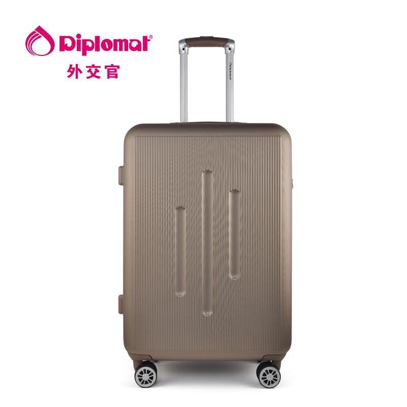 外交官Diplomat 时尚休闲商务拉杆箱DS-13002 咖啡色 24英寸