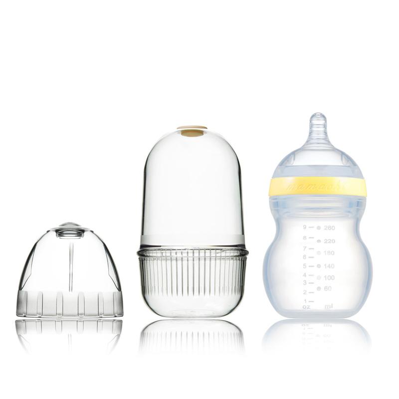 韩国原产Mamachi 宽口径全硅胶奶瓶260ml精装2孔3-6个月