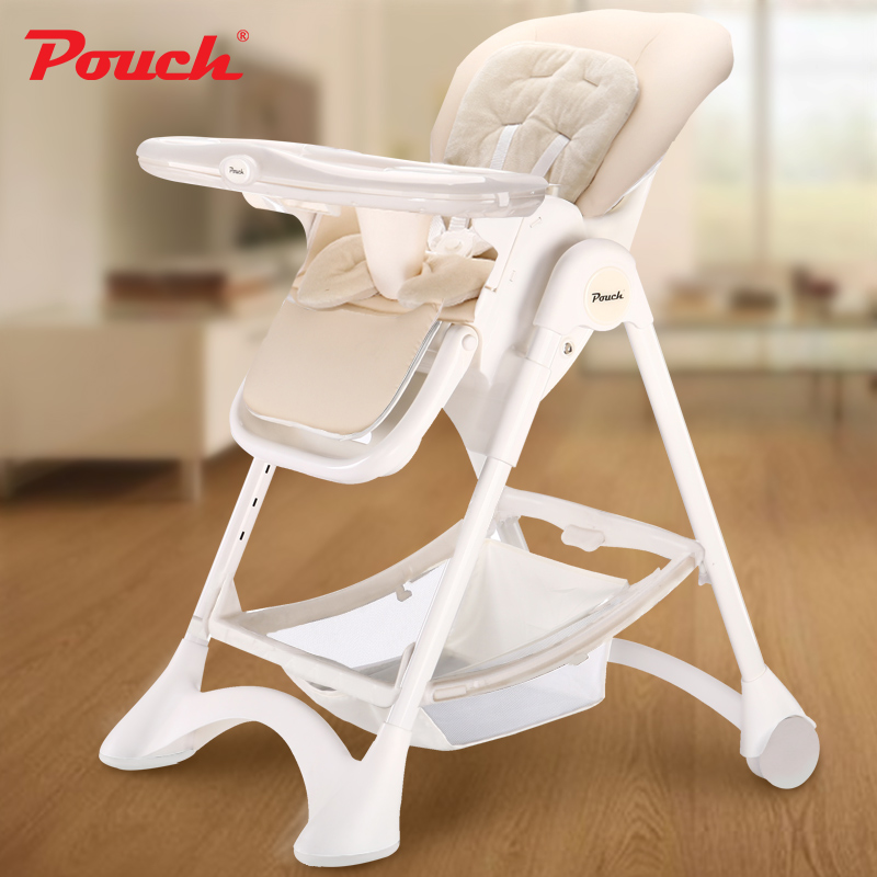 POUCH 婴儿餐椅K05宝宝吃饭桌椅带餐盘儿童可折叠便携式餐椅座椅 K05