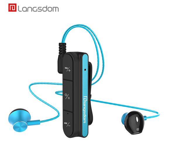 兰士顿BX10 便携式无线蓝牙耳机 跑步运动耳机  双耳立体声重低音 磁吸金属耳机线