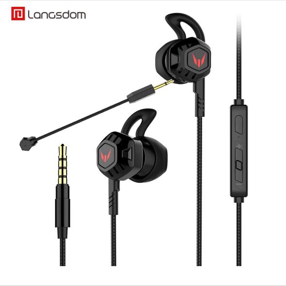 兰士顿 G100X游戏耳机入耳式重低音炮线控调音耳机