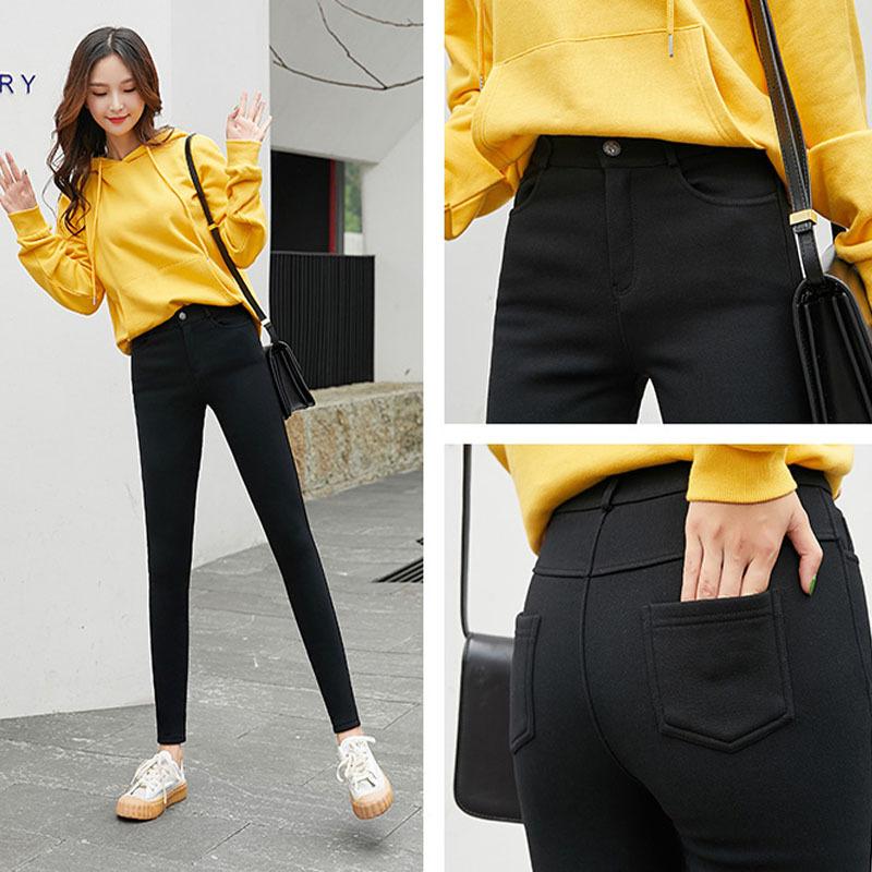 海谜璃 新款韩版高腰打底裤显瘦百搭抖音魔术裤女外穿大码外穿裤子女 HBF2276