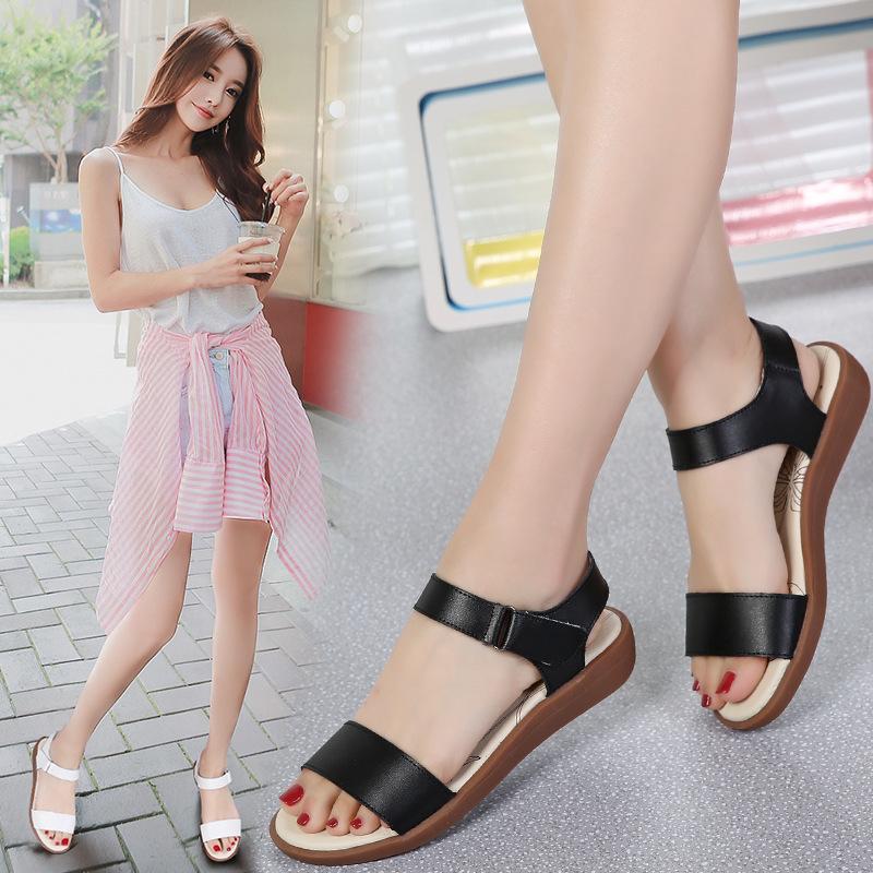 海谜璃 甜美时尚女士真皮凉鞋 HB3002