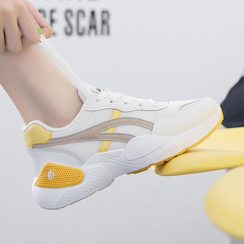 海谜璃 老爹鞋女新款运动女鞋韩版网红百搭休闲小白鞋透气鞋子 HBX7082