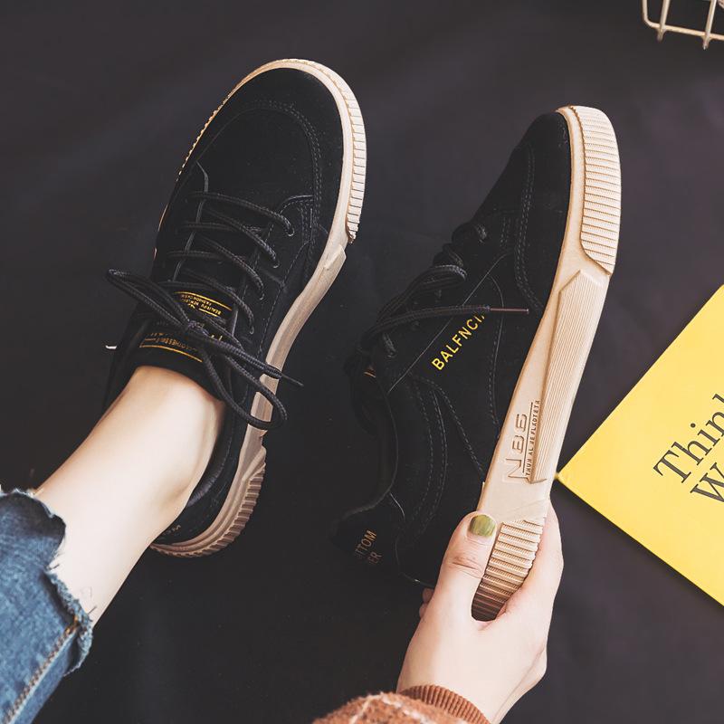 海谜璃 鞋子学生韩版百搭休闲鞋女黑色鞋子ins板鞋女潮 HBX7079
