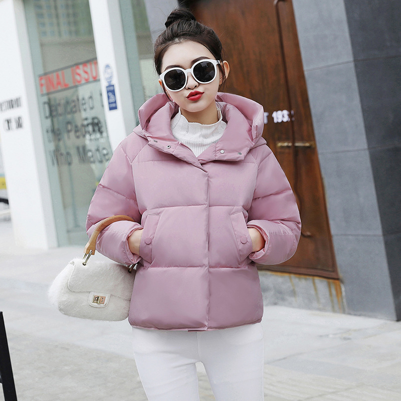 海谜璃 棉衣新款冬季新款韩版短款棉袄冬季学生加厚宽松棉服外套女潮 HBF2361