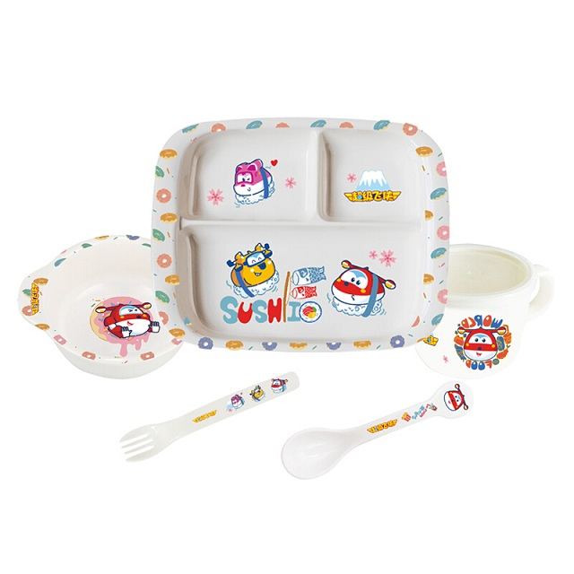 超级飞侠  蜜胺餐具套装MP-MA001儿童餐具 辅食餐盘