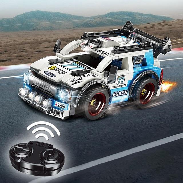 奥迪双钻积木遥控车WRC赛车HA389053