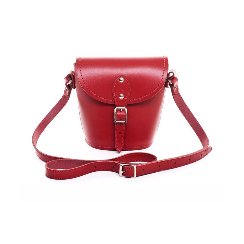 Zatchels红色水桶包