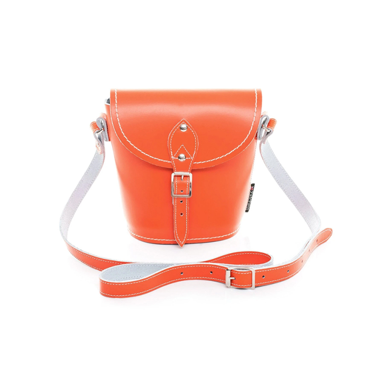 Zatchels橙色水桶包
