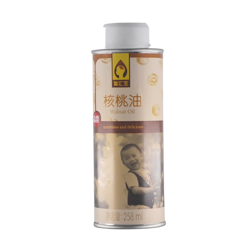 (买一赠一)众喜核桃油纯冷榨食用油无添加调料正品宝宝油258ML