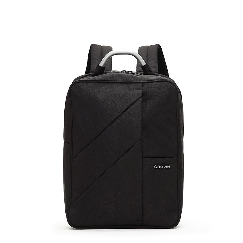 "CROWN/皇冠商务双肩包 商务背包 公文包 电脑背包 E-P1770S/16"" 质感黑"