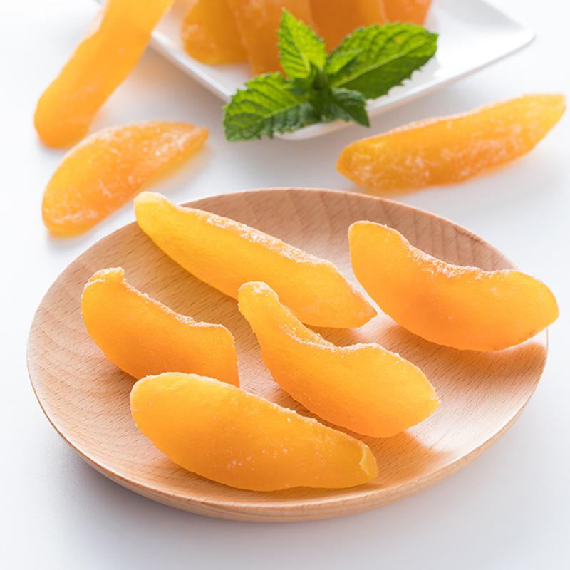 水果干黄桃干果脯桃干休闲零食特产小吃美食200g美食包邮蜜饯孕妇