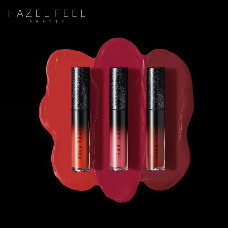 HAZELFEEL黑绯 zz小黑 单支唇釉唇膏不易脱色保湿防水染唇液口红