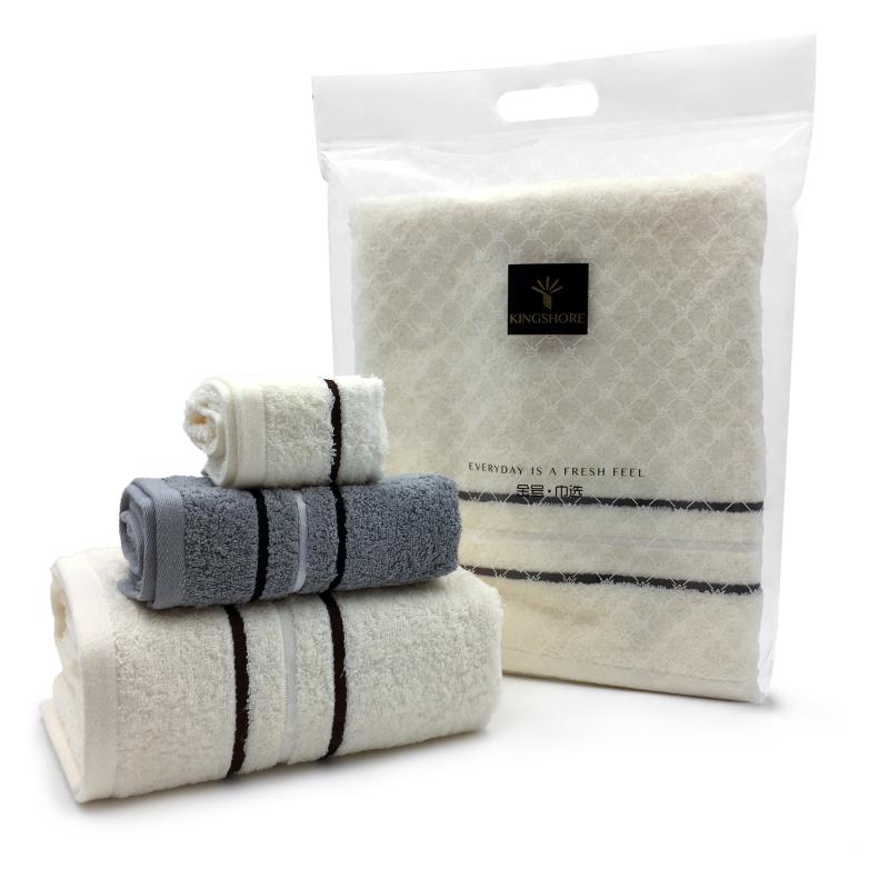 金号纯然系列纯棉浴巾 HY3118商务居家礼品馈赠全适用 HY3118 浴巾单条巾选袋装