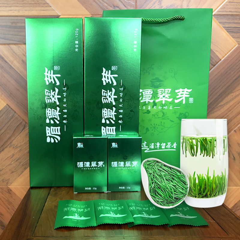 亿树春贵州原生态雨前雀舌湄潭翠芽精品礼盒装240g(120gX2)