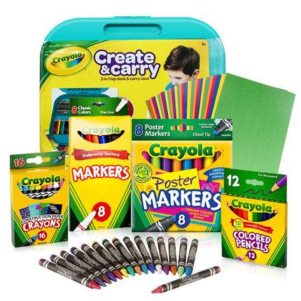 绘儿乐小艺术家美术工具箱儿童水彩绘画礼盒套装