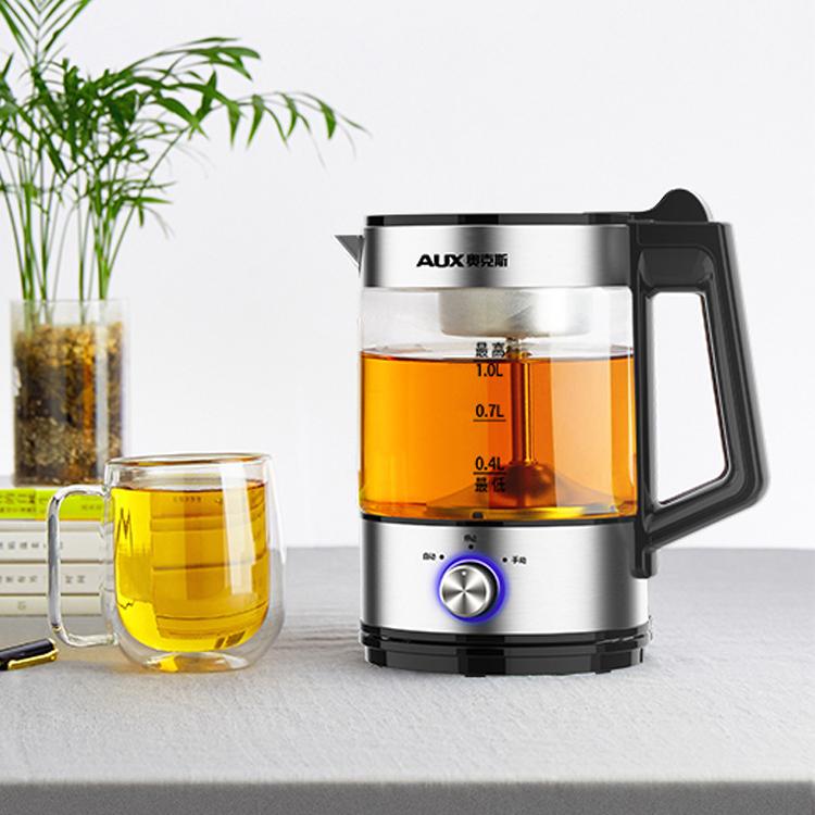 奥克斯黑茶煮茶器煮茶壶蒸汽全自动家用玻璃电热普洱蒸茶壶花茶HX-Z0805K