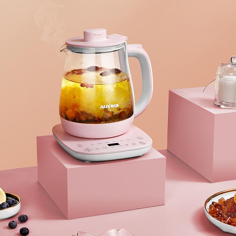 奥克斯养生壶全自动多功能家用煮茶器花茶壶办公室小型电热烧水壶 HX-S0829K