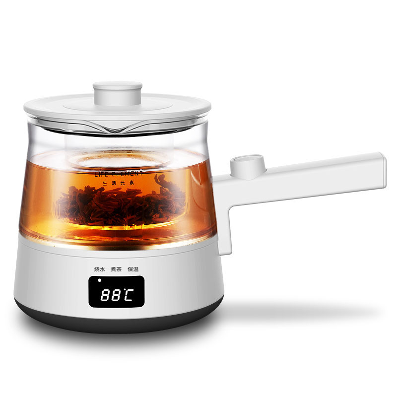 生活元素(LIFE ELEMENT)养生壶 迷你煮茶器 煮茶壶 电茶壶玻璃烧水壶 电热水壶 养生杯0.5L I90