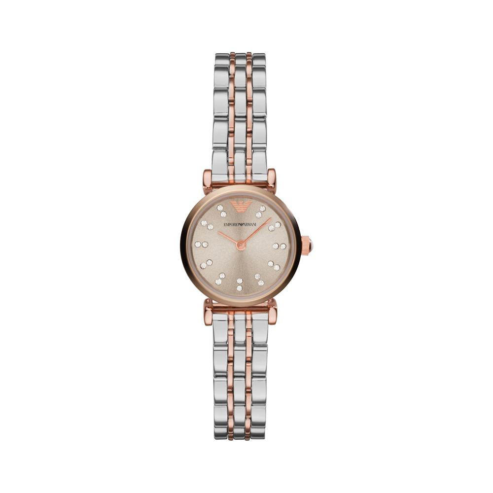 阿玛尼(ARMANI)手表 女士手表小表盘复古经典时尚女表AR1841
