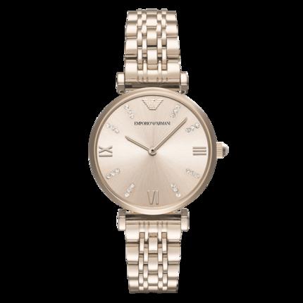 阿玛尼手表钢带石英女士腕表经典款时尚简约舒适 AR11059