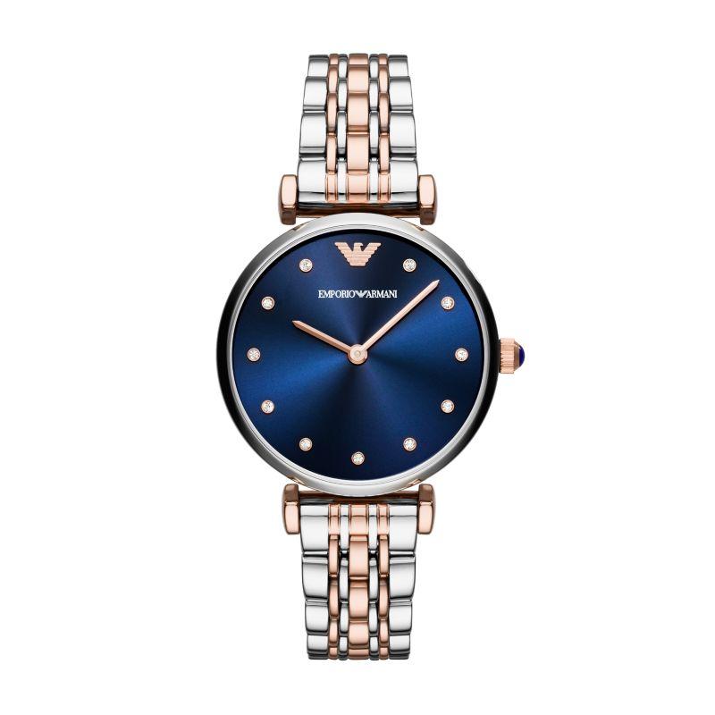 阿玛尼(Emporio Armani)手表石英女表蓝色个性风格腕表 AR11092